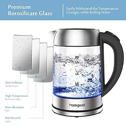 Wasserkocher-Homgeek-Wasserkocher-Glas-Elektrisch-2200W17L-mit-LED-Beleuchtung-Auto-off-Trockenlaufschutz-Edelstahl-Innendeckel-BPA-frei