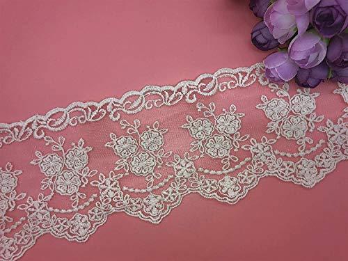Little lane lace 8 cm de ancho con diseño de flores pequeñas...