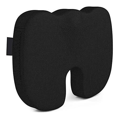 HKJZ SFLRW Cojín de Asiento de Silla de Oficina para Espalda, Coccyx y Alivio del Dolor de colofón (Negro)
