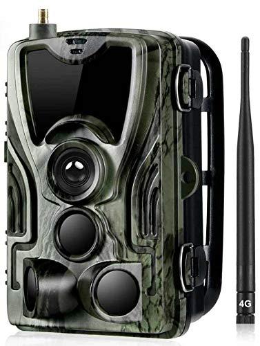 24MP HC-801 LTE 4G Wildkamera unsichtbare 42 Black LED Trigger 120° Fotofalle Überwachungskamera Jagdkamera GSM MMS EMAIL SMTP SMS Full HD Jagd Wild Kamera Hunting Trail Camera Suntek 4G 3G 2G LTE