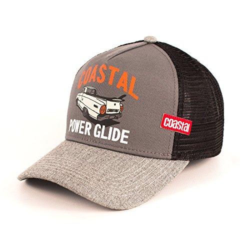 Coastal - Power Glide (Grey/Charcoal/Black) - High Fitted Trucker Cap