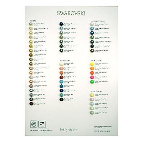 Swarovski Elements Pearl Farbe Diagramm 2017, 1Stück