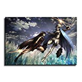 Akame Ga Kill Canvas Wall Art Akame Vs Esdeath Poster Picture Print Home Room Decor Anime Mural -558 (12x18inch-Framed)