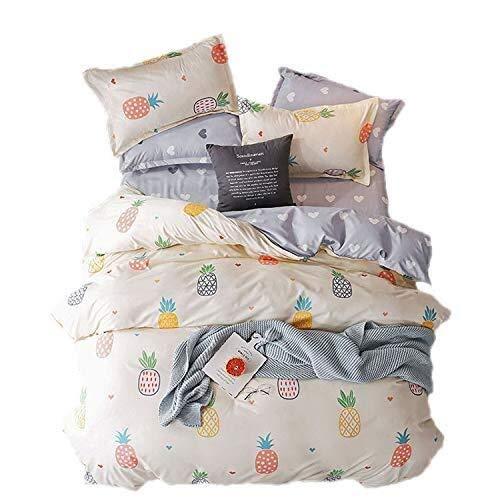 Duvet Cover Set Juego de cama 3 piezas de este conjunto de piña 2 X 1 X funda de almohada del bebé…