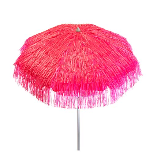 Heininger 1265 DestinationGear Palapa Tiki Pink 6 ft Patio Umbrella