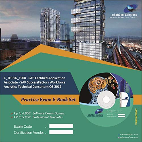 C_THR96_1908 - SAP Certified Application Associate - SAP SuccessFactors Workforce Analytics Technical Consultant Q3 2019 Complete Exam Video Learning Solution Set (DVD)