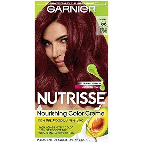 GARNIER - Nutrisse Nourishing Color Creme 56 Medium Reddish Brown Sangria - 1 Application