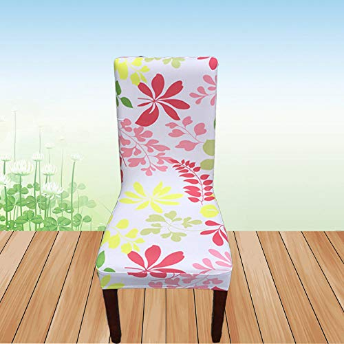 SIWANG Stretch Stuhlhussen,Stretch Dining Chair Covers Mimosa Print Halblang Half-Pack Stuhlbezug Protector for Hotel Home Party Restaurant Dekor, 2St