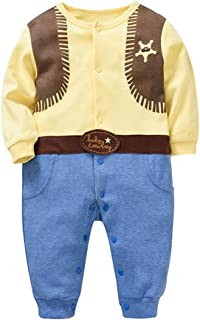 Baby Boys Clothes Jumpsuit Cosplay Cowboy Christmas Baby Rompers Bodysuit Clothing