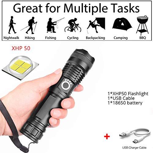 Alta potencia 200000 lúmenes xhp70.2 La linterna LED más potente La linterna con zoom USB es el último tipo recargable, utilizado para senderismo/caza/camping/exterior (xhp50)