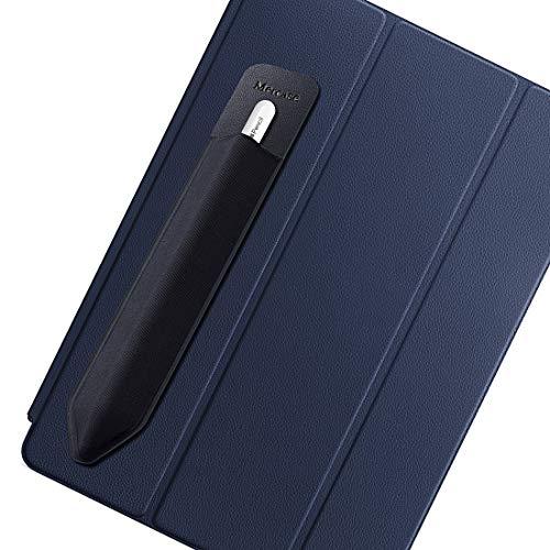 Funda para Apple Pencil, Bolsa de Lápiz Compatible con Apple Pencil (1st and 2nd Gen), Protector Bolsillo Elástico para Lápiz Manga Adhesiva Reutilizable para iPad Pro/iPady más lápiz óptico, Negro