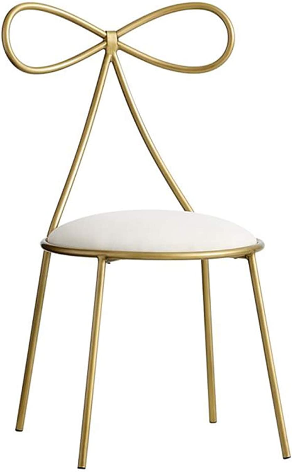 gold Restaurant Chair,Creative Butterfly Tie Chair Restaurant Cafe Decoration Chair Girl Bedroom Makeup Chair Nail Chair 40  40  80CM,gold
