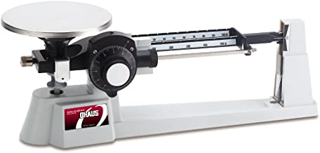 Ohaus Dial-O-Gram Stainless Steel Top Loading Mechanical Triple Beam Balance with Stainless Steel Plate and Tare, 610g x 0.1g