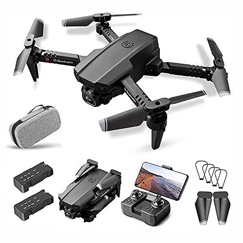 PAKUES-QO Mini Drone con Cámara 4K Plegable RC Quadcopter Drones Ultraligeros con Cámara HD, Volteretas 3D, WiFi FPV, Cámara Dual, Control De Una Tecla, Modo Sin Cabeza para Adultos Y Niños