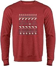 Pop Threads Yippee Ki Yay MFer Christmas Sweater Funny Mens Fleece Crew Sweatshirt
