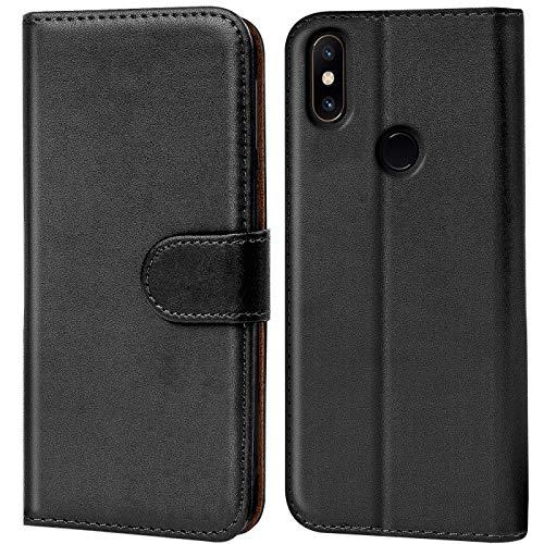 Verco Funda para Xiaomi Mi Mix 2s, Telefono Movil Case Compatible con Xiaomi Mi Mix 2s Libro Protectora Carcasa, Negro
