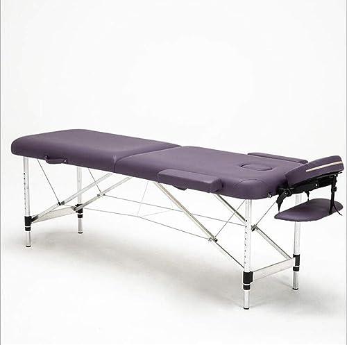 envío gratis Shengshiyujia Multifuncional Cama De Masaje Plegable Cama De Belleza Terapia Terapia Terapia De Masaje En Casa Cama Portátil Tatuaje Aleación De Aluminio Portátil Simple,púrpura  al precio mas bajo