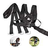 Sled Harness Tire Pulling Harness Upgraded Fitness Resistance Training Workout Speed Harness Trainer Football Training Equipment, Adjustable Padded Shoulder Strap
