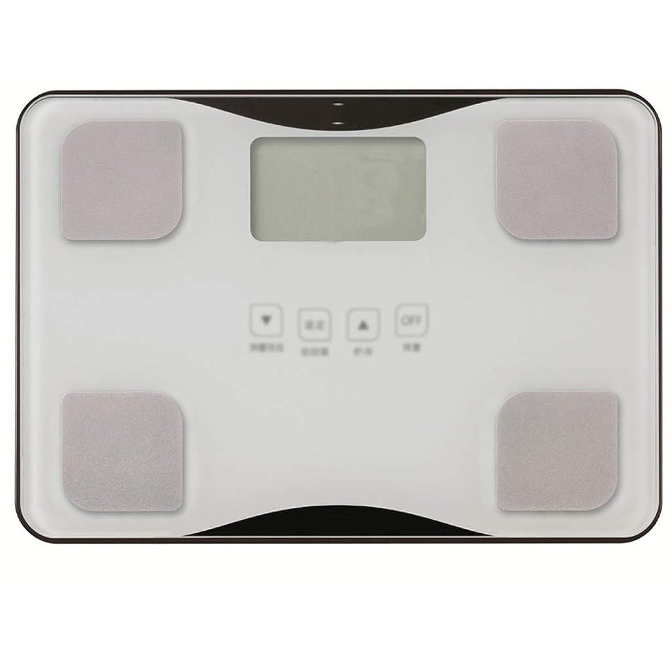 読書疼痛食欲体重計ポータブル電子体重計女性の世帯の小さな体脂肪と呼ばれる正確な人体 ZHJING (Color : White)