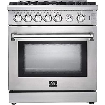 Amazon Com Frigidaire Ffgh3054us 30 Inch Freestanding Gas Range With 5 Burners Sealed Cooktop 5 Cu Ft Primary Oven Capacity In Stainless Steel Appliances