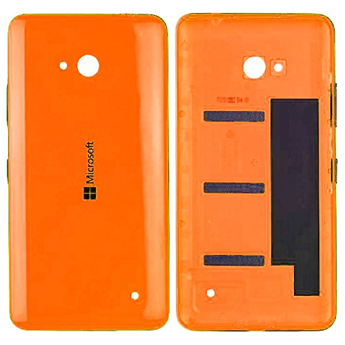Original Microsoft Akkudeckel orange für Microsoft Lumia 640 (Akkufachdeckel, Batterieabdeckung, Rückseite, Back-Cover) - 02509P7