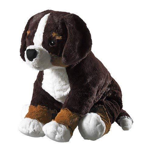 IKEA 4054673250879 Stofftier Hund HOPPIG Plüschtier Welpe-49x19cm groß-sehr kuschelig-maschinenwaschbar-SICHERHEITSGETESTET