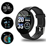 Smartwatch Orologio Fitness Tracker Uomo Donna, Bluetooth Smart Watch Cardiofrequenzimetro da Polso Schermo Colori Orologio Sportivo Calorie Activity Tracker,per uomo donna compatibile iPhone Android