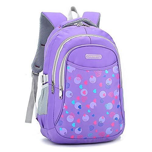 XMYNB Bolsas de escuela moda punto impresión mochila escuela bolsa para niñas nylon gran capacidad mochilas