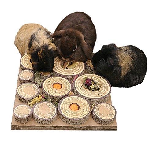 Rosewood Maze-a-Log Intelligenzspielzeug für Kaninchen / Meerschweinchen mit Leckerli-Versteck - 2