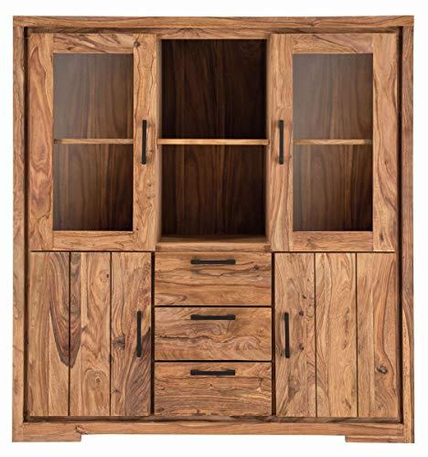 SIT-Möbel Sanam Highboard Sheesham Naturel L = 140 x l = 45 x H = 150 cm