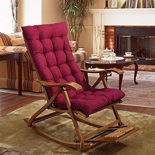 RAQ Zitkussen voor rugleuning, voor bureaustoel, opvouwbaar, dik, voor tuin, zon lounge, zitkussen, sofa, tatami, zonder stoel 48X160 Wijn Rood