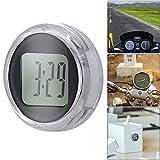 Porcyco Orologio universale mini moto orologio IP64 impermeabile orologio digitale da moto adesivo, decorazione perfetta per auto/barche/biciclette/auto/casa