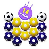 Foosball Balls – Table Foosball Replacement Balls for Foosball Tabletop Games, Multicolor Fooball Accessories, 1.42 Inch (36mm), Pack of 14