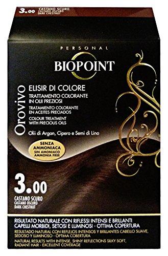 Biopoint Linea Orovivo, Tinta Per Capelli (Colore 3.00 - Castano Scuro) - 30 ml.