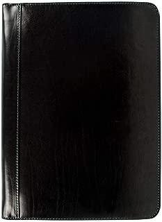 皮革文档文件夹,棕色皮革包,皮革收纳袋,文件夹,文件夹盒,皮革文件夹 - 耐时性 黑色