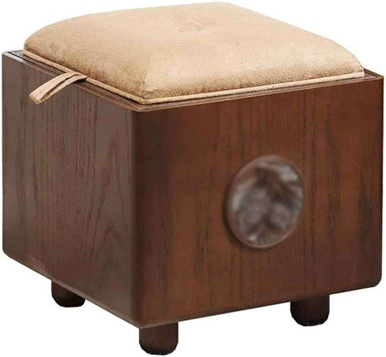 Osman Storage Stool Storage Stool can sit Adult Household Solid Wood Toy Storage Box for shoes Bench Candtong