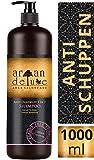 """Champú Anti-Caspa de """"Argán Deluxe"""" con Cálidad de Peluquería Altamente Eficaz,Efectividad Probada, Nutrientes Intensivos con Aceite de Argán 1000ml"""