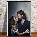 PHhomedecor Leinwanddrucke Poster,Bradley Cooper Lady Gaga