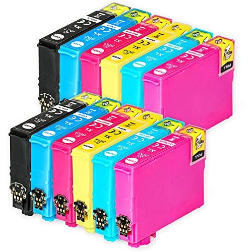 Go Inks Compatible Cartuchos de Tinta para reemplazar Epson T0807 Serie Non-OEM *Nueva versión* (12 Tintas)