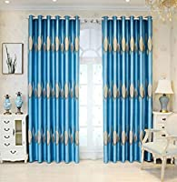 ジャカードブラックアウトカーテンはベッドルーム2パネルのためのグロメットワイド、リビングルームバルコニーのためのモダンシンプルな装飾
