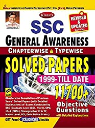 Kiran SSC General Awareness Chapterwise & Typewise Solved Papers 1999 Till Date English