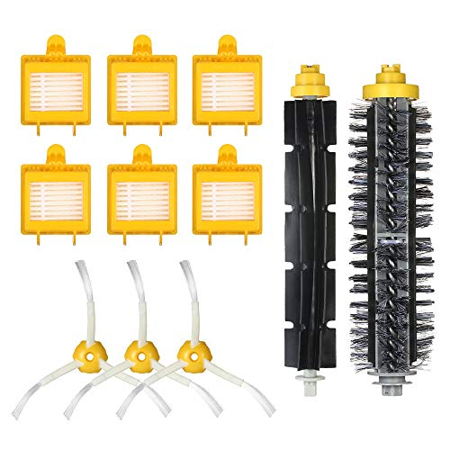 Accesorios de repuesto para iRobot Roomba serie 700 761 770 780 790, repuestos con 6 filtros, 3 cepillos laterales, 1 cepillo de cerdas y 1 cepillo batidor para Roomba Aspiradora (11 piezas)