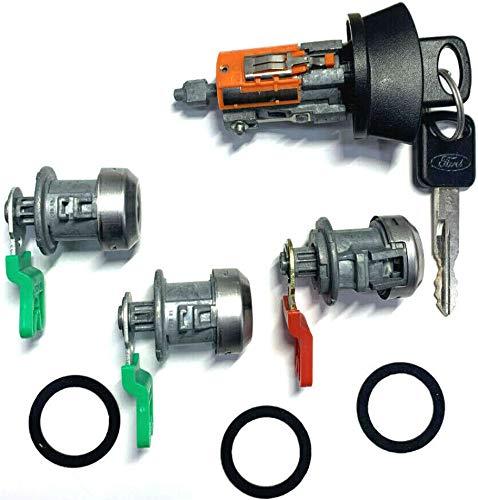 X AUTOHAUX Car Door Lock Cylinder with Key DL3 F1435 F1480A 2DLK6 DLK9