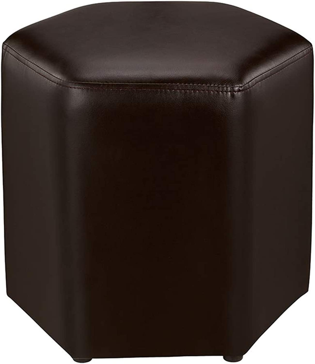 SUNNY PU Leather Low Stool Multiple colors Footstool Strong Bearing Capacity Suitable for Living Room Bedroom (color   C8)