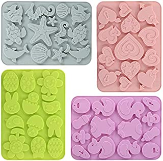 Lovely Shaped Silicone Chocolate Candy Cake Molds (4pack)
