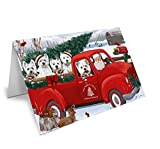 Christmas Santa Express Delivery West Highland Terriers Dog Family Greeting Card GCD69065 (10)