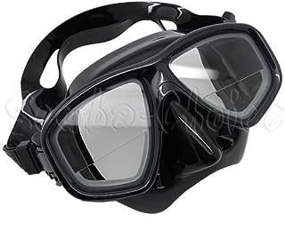 Scuba Black Dive Mask FARSIGHTED Prescription RX 1/3 Optical Lenses