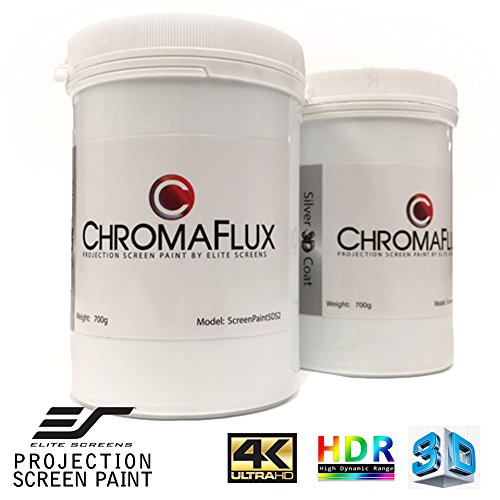 Elite Screens ChromaFlux Screen Paint, Up to 140 inch Diag. Water Base 3D/2D Ambient Light...
