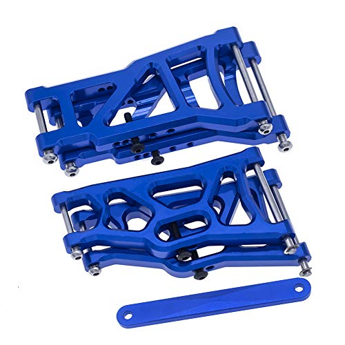 4-Pack Aluminum Front & Rear Suspension A-Arms & Tie Bar Replacement of 2555 3631 2532 for Traxxas 1/10 Slash 2WD RC Car Upgrade Parts Hop Ups