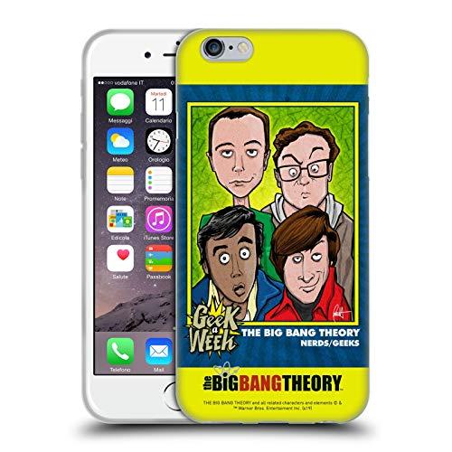 Head Case Designs Licenza Ufficiale The Big Bang Theory Poster Grafici Arti 2 Cover in Morbido Gel Compatibile con Apple iPhone 6 / iPhone 6s